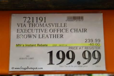 costco sale via thomasville brown leather executive