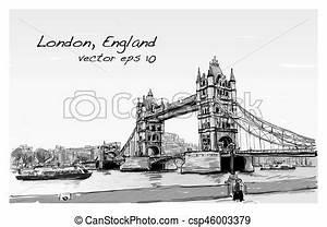 London Bridge Dessin : croquis angleterre illustration londres vecteur cityscape tour dessin pont ~ Dode.kayakingforconservation.com Idées de Décoration