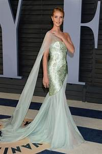 Rosie Huntington Whiteley Green Tulle Prom Celebrity Dress