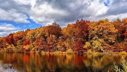 Forest Autumn Lake Nature 5k Wallpapers 4k
