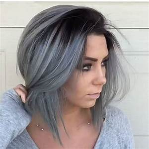 Haarfarbe Schwarz Grau : ombre hair cheveux mi longs coiffure simple et facile ~ Frokenaadalensverden.com Haus und Dekorationen