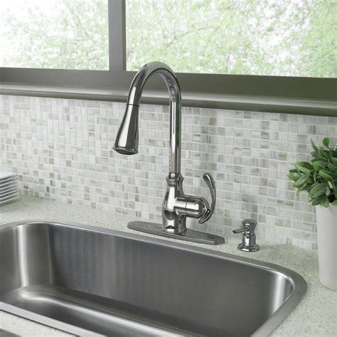 Harlon Kitchen Faucet by Shop Moen Kipton Chrome 1 Handle Pull Kitchen Faucet