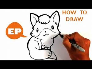 How to Draw a Cute Fox - Easy Pictures to Draw - YouTube