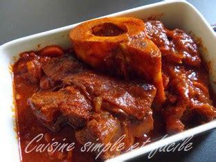 jarret de boeuf 224 la sauce tomate cuisine simple et facile