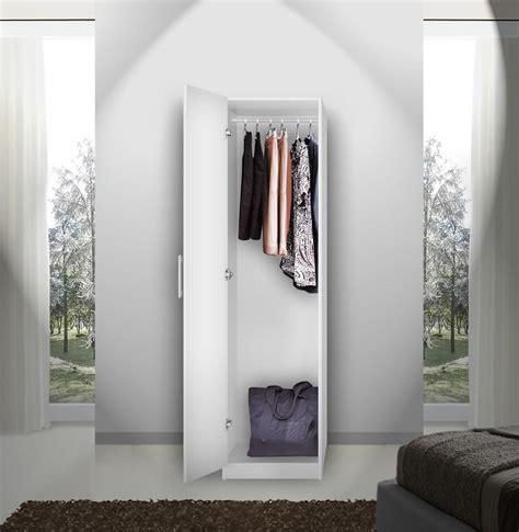 alta narrow wardrobe closet left opening door contempo