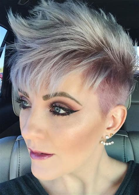 edgy  rad short undercut hairstyles  women glowsly