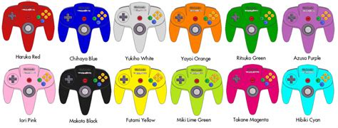 nintendo 64 colors nintendo 64 controllers the idolm ster editions by