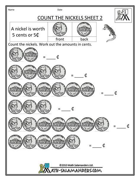 math money worksheets st grade  images money
