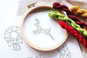 Christmas, Geometric, Embroidery, Patterns
