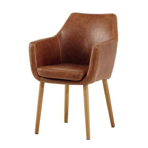 maison du monde chaise de bureau fauteuil vintage marron davis maisons du monde