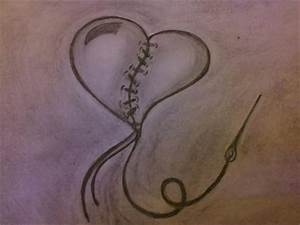 Images For > Cool Heart Sketches
