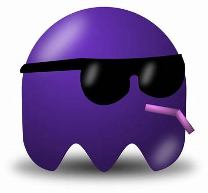 Clipart Cool Pacman Avatar Vector Purple Character