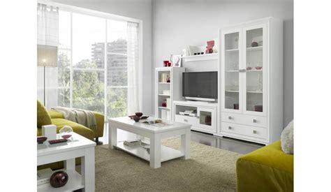mueble de salon blanco lacado