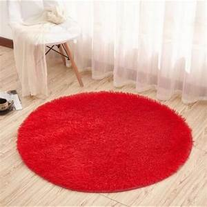 tempsa tapis rond rouge peluche anti derapant pour salle With tapis rouge rond