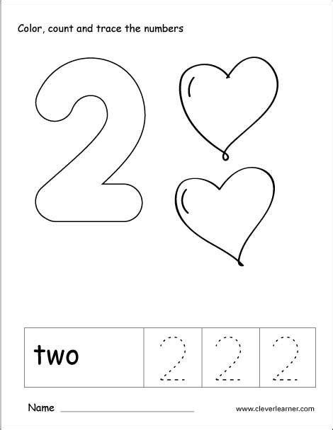 number 2 worksheets for preschoolers number 2 tracing worksheet worksheets for all 708
