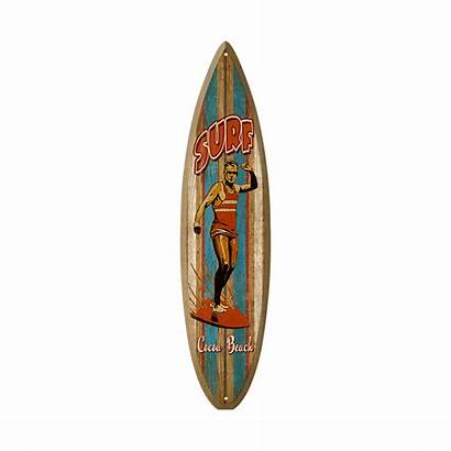 Surfboard Wooden Sign Surfer Surf Wood Signs