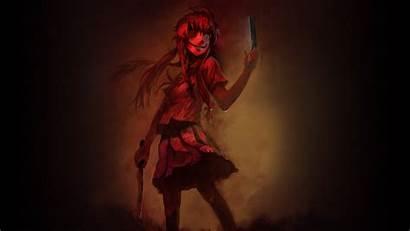 Mirai Nikki Yuno Gasai Anime Creepy Scary