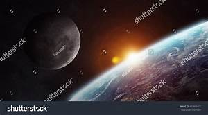 View Moon Close Planet Earth Space Stock Illustration ...
