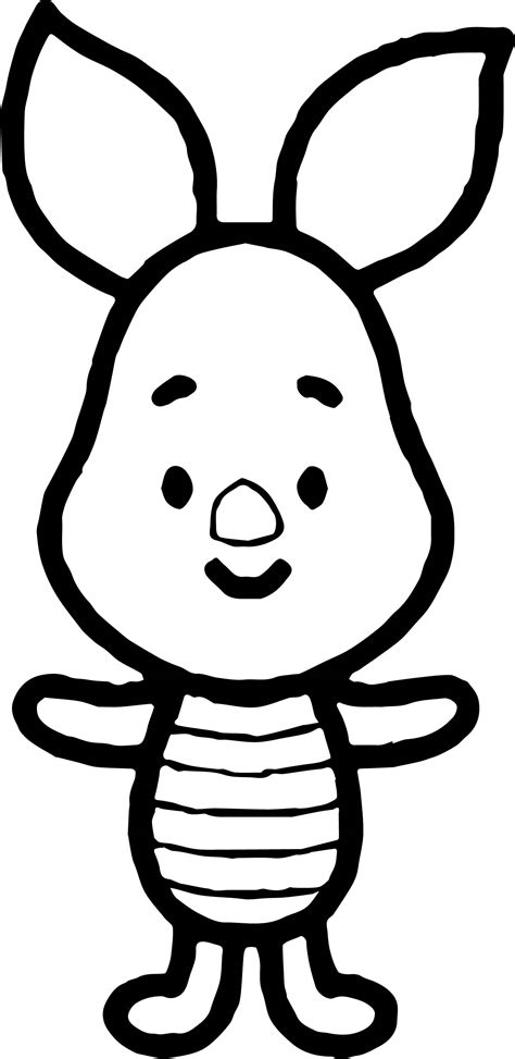 piglet cute coloring page wecoloringpagecom