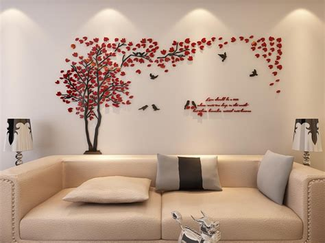 Living Room Wallpaper Feature Wall Red Gopelling