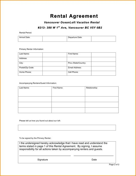 Landlord Tenant Contract Template by Template Landlords Contract Template