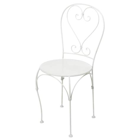 chaise jardin fer forgé wrought iron garden chair in ivory germain maisons du monde