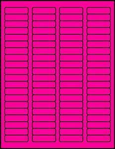 Dayglo Labels Fluorescent Labels Neon Labels