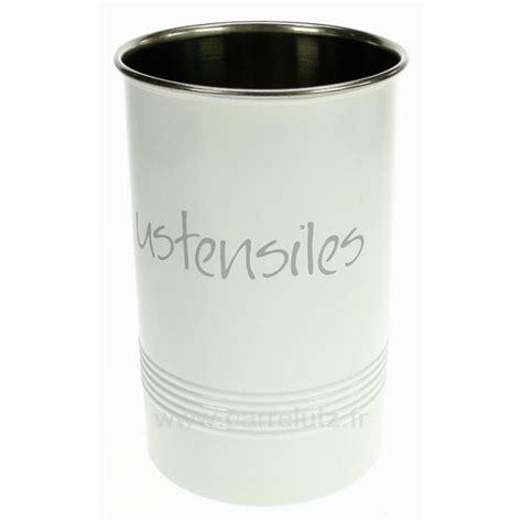pot pour ustensile de cuisine pot à ustensiles rond blanc la cuisine gt porte