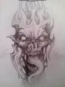 Demon Face Tattoo Drawing Designs