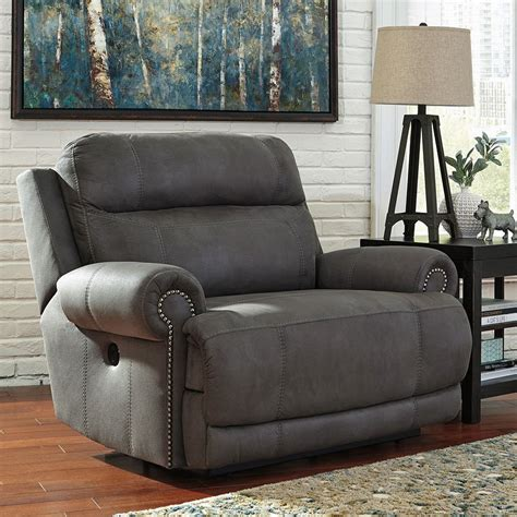 austere gray  wall wide recliner recliners