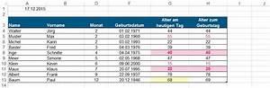 Excel Alter Berechnen Aus Geburtsdatum : geburtstagskalender immer g ltig mit excel 4c 4berlin ~ Themetempest.com Abrechnung