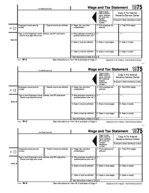 1975 form irs w 2 fill printable fillable blank