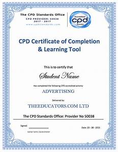 The educators exam and certification for Cpd certificate template