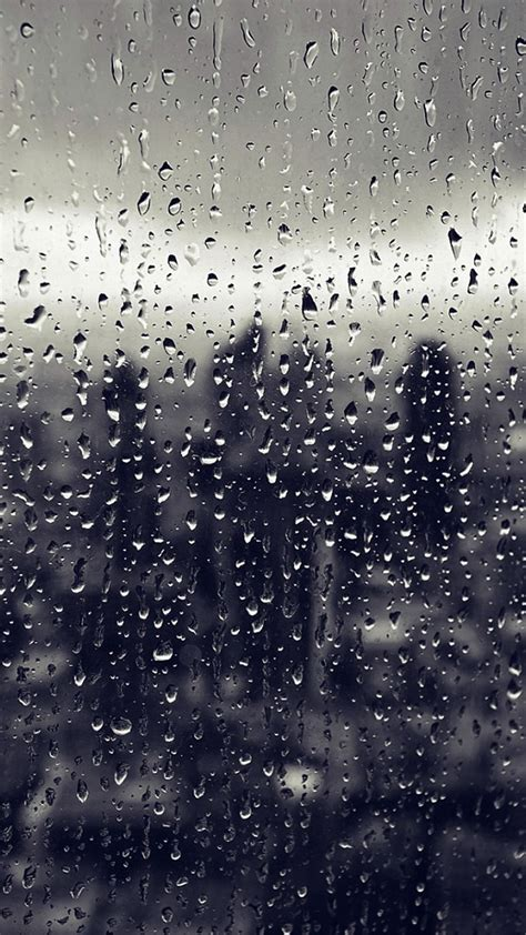 rain window nature pattern blue iphone  wallpaper