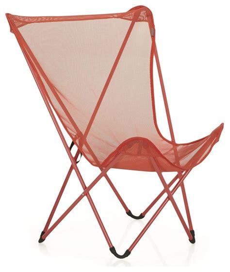 maxi pop up fauteuil de repos pliant lafuma rouge