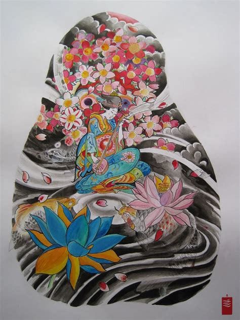ideas  geisha tattoos  pinterest geisha