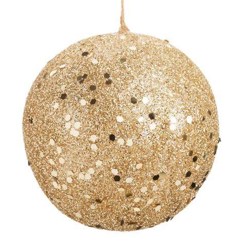 boule de no 235 l dor 233 e 6 cm golden glitter maisons du monde