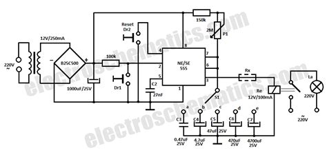 Timer Relay Circuit Second Hours