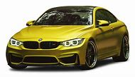 M4 BMW Yellow Car