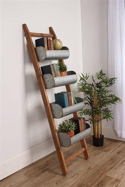 47 rustic ladder shelf gif