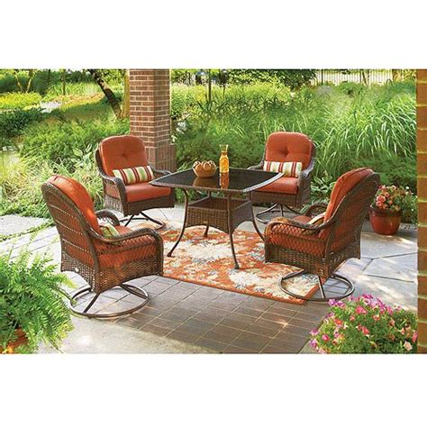 better homes and garden patio furniture better homes and gardens azalea ridge 5 piece patio dining set seats 4 patio furniture