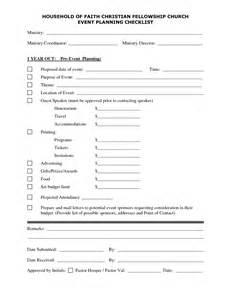 Church Event Planning Checklist Template