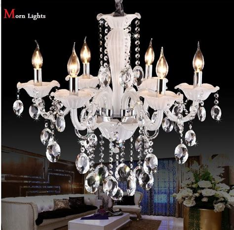 White Modern Chandelier by Aliexpress Buy White 6 L Lighting