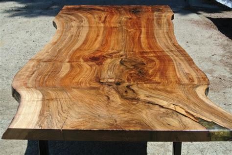 custom grafted english black walnut slab dining table