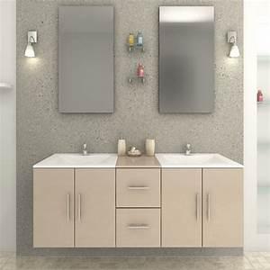 ensemble meuble de salle de bain quotbalneoquot beige With meuble de salle de bain paris