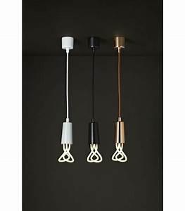 Suspension Noire Design : suspension design c ble et cache douille noir plumen ~ Teatrodelosmanantiales.com Idées de Décoration