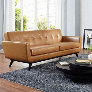 Tan leather sofa bed foam sofa bed also french provincial for Tan sectional sleeper sofa
