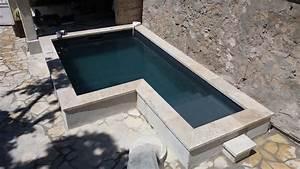 mini piscine en beton construction maison beton arme With construction piscine hors sol en beton