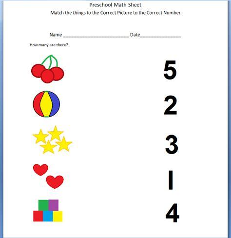 printable math worksheet for preschool - Redbul ...