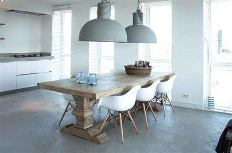 deco chambre boheme table de ferme table monastère bois massif salle à